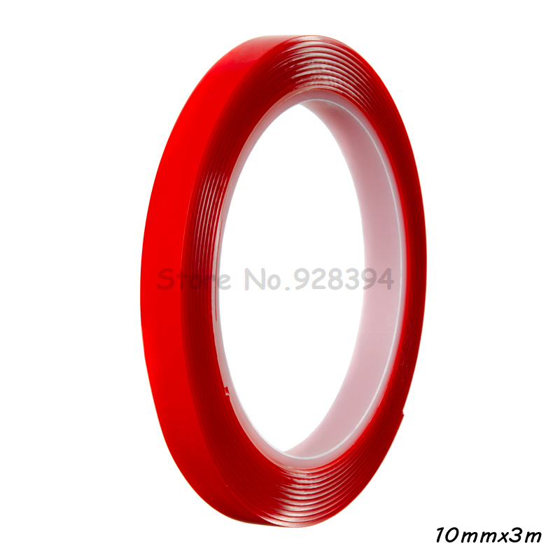 1 Piece 10mm 3m Double Sided Clear Tape Heat Resistant