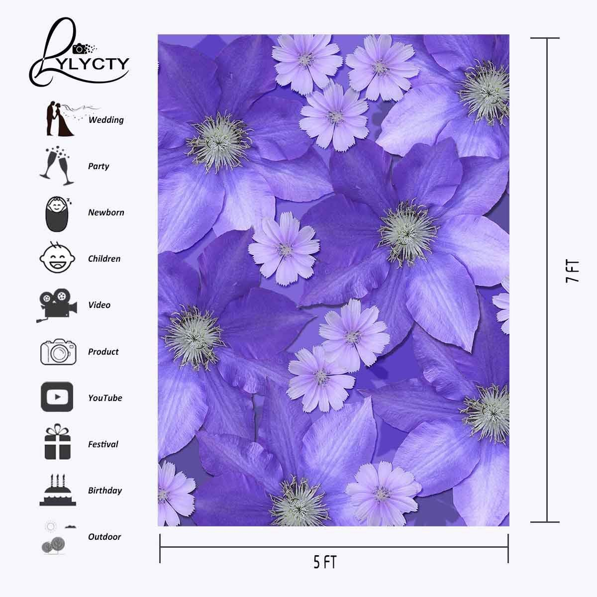 5x7ft Backdrop Ultra Violet Flower Wall Photography Background Pantone in Photo Studio Accessories from Consumer Electronics