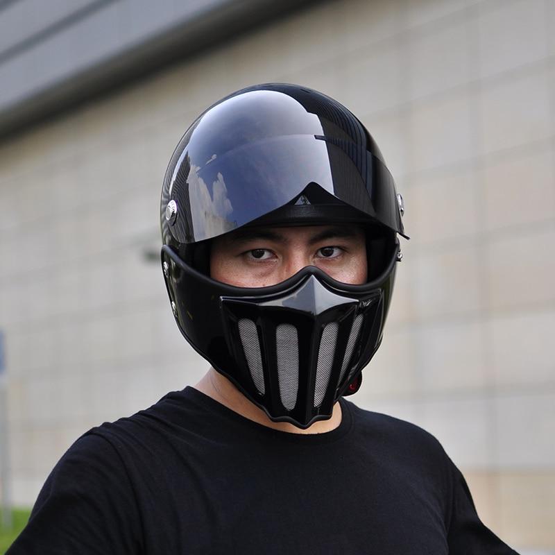 TT CO vintage helmets Japanese Thompson motorcycle helmet Removable chin Spirit Rider moto Helmet Vespa cascos para moto in Helmets from Automobiles Motorcycles