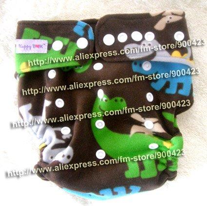 Моющиеся ребенка ткань пеленки 1 шт. ткань пеленки+ 1 шт. вставки - Цвет: dinosaur