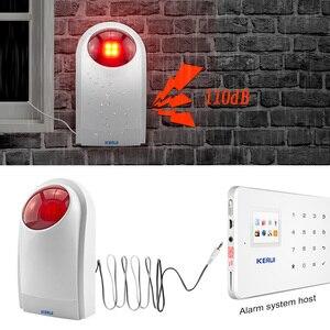 Image 5 - KERUI проводная сирена, наружная стробоскопическая вспышка, умный дом, сигнализация для беспроводной системы сигнализации, безопасность