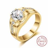 Original 925 Sterling Silver Rings Simple Fashion Style Cushion Cut 2ct Cz Ring High Quality Wedding