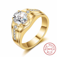 Original 925 Sterling Silver Rings Simple Fashion Style Cushion Cut 2ct Cz Ring High Quality Wedding