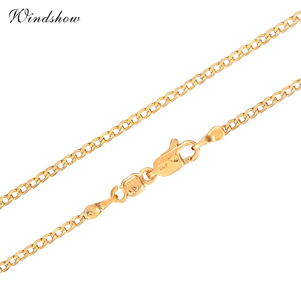 Aliexpress Com Buy 2016 New Yellow Gold Plated Slim Curb