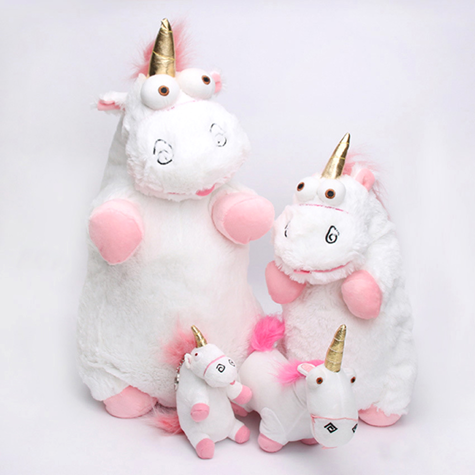 Hot selling Fluffy Unicorn Stuffed animals 15 18 40 56 cm Cute Despicable Me Lovely Soft Plush Dolls toys best gift for Children 1pcs 8 20cm hello kitty plush stuffed dolls for children lovely baby toys kimono hello kitty plush best gift for children