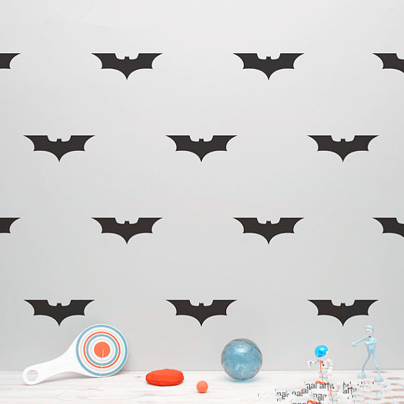 Batman Pattern Wall Sticker (36pcs)