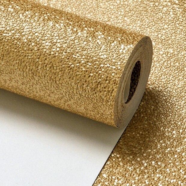 Muriva Tapete, mit Glitzer-Effekt, Strukturtapete, goldfarben ...