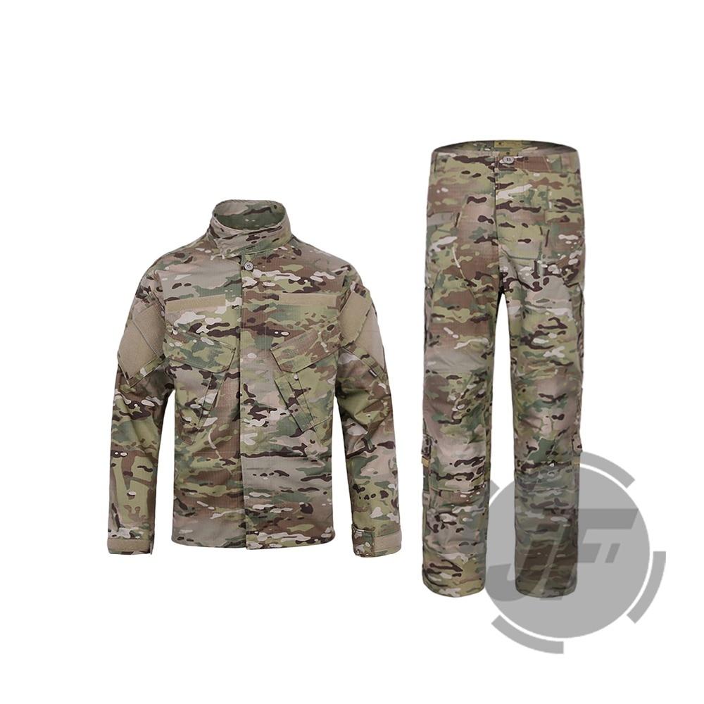 Emerson Tactical Camo R6 Style Field BDU Combat Assult Shirt & Pants Set Uniform EmersonGear Military Airsoft Paintball Clothing стоимость
