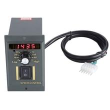 Ac 220V controlador de velocidad del motor 50Hz 250W Digital ajustable Stepless Plc controlador de velocidad del motor 0 1450Rpm regulador de velocidad