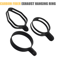 Free shiping Universal Motorcycle Carbon Hexagonal Exhaust Pipe Bracket Clip Fasten Support Silencer Pipe Bracket Hanger Band