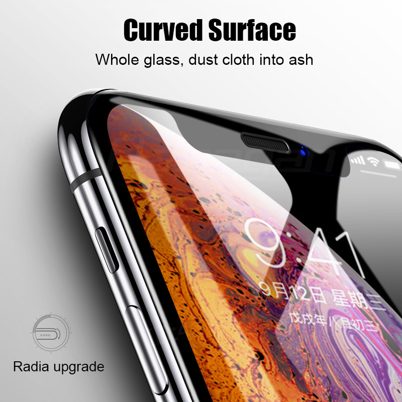 Image 3 - 35D Protective Glass on the For iPhone 6 6s 7 8 plus XR X XS glass full cover iPhone Xs Max Screen Protector Tempered Glass-in Phone Screen Protectors from Cellphones & Telecommunications