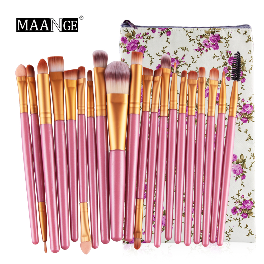 20pcs Makeup Brushes Set Pincel Maquiagem Powder Eye Complete Brush Kit Cosmetics Make Up Brushes Beauty Tools with Leather Case
