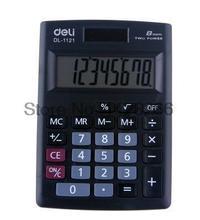 2016 Deli Mini Handheld Pocket Calculator Model 1121 Cute Fashion Kawaii 8-digits Big Display Portable Hot Sell Calculator