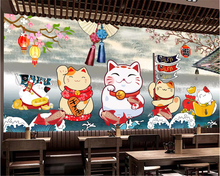 beibehang Custom size retro Japanese style sushi restaurant decoration painting wallpaper papel de parede 3d behang