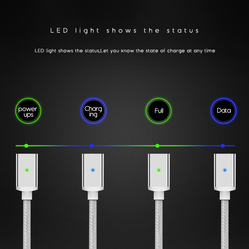 Suntaiho Magnetic cable Charger Micro USB Type C Cable Fast Charging Phone usb Magnet usb c cable For iphone Samsung xiaomi mi9