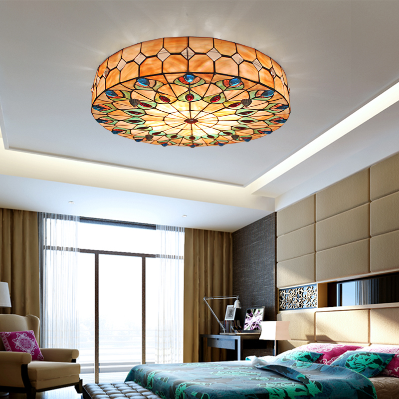 Tiffany Stained Glass Ceiling Light Living Room Bedroom