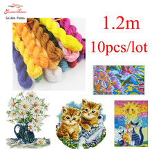 Golden Panno DIY DMC 150-221 Borduren Floss Borduurgaren 10 stks/partij 1.2 M kruissteek kit Cross stitch Floss Kits 11.12(China)