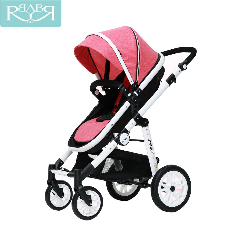 Baby Stroller 2 In 1 High Landscape Prams Sit and Lie Folding Baby Carriage For Newborn Infant Four Wheels Kinderwagen high landscape baby stroller can sit and lie in a folding baby four seasons universal newborn baby summer baby stroller