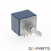 GD PARTS 1 шт. Япония ALPS RK27 Dual 2x100KA стерео потенциометр громкости тревожный аттенюатор 6 мм рифленый вал HIFI аудио DIY
