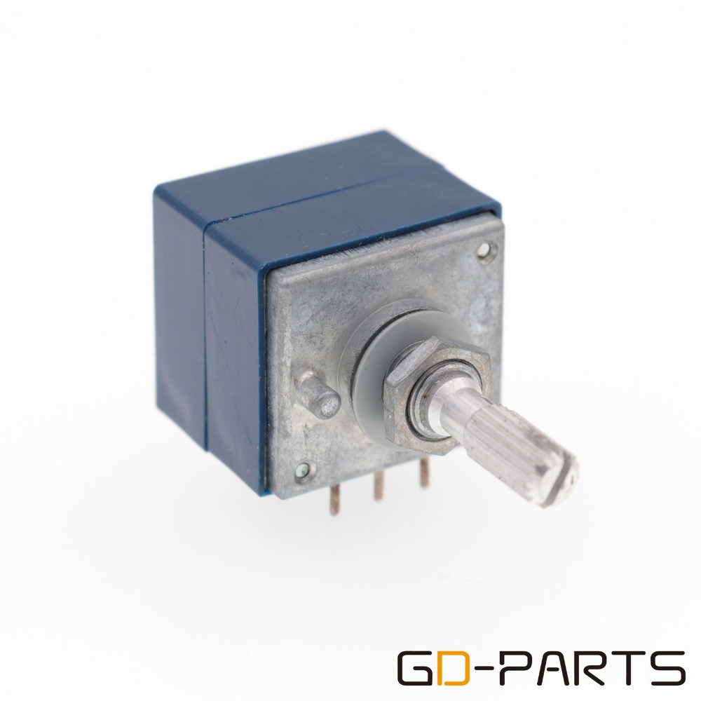 GD-PARTS 1PC JAPAN ALPS RK27 Dual 2x100KA Stereo VOLUMEN Potentiometer LOG Abschwächer 6mm Gerändelt Welle HIFI AUDIO DIY