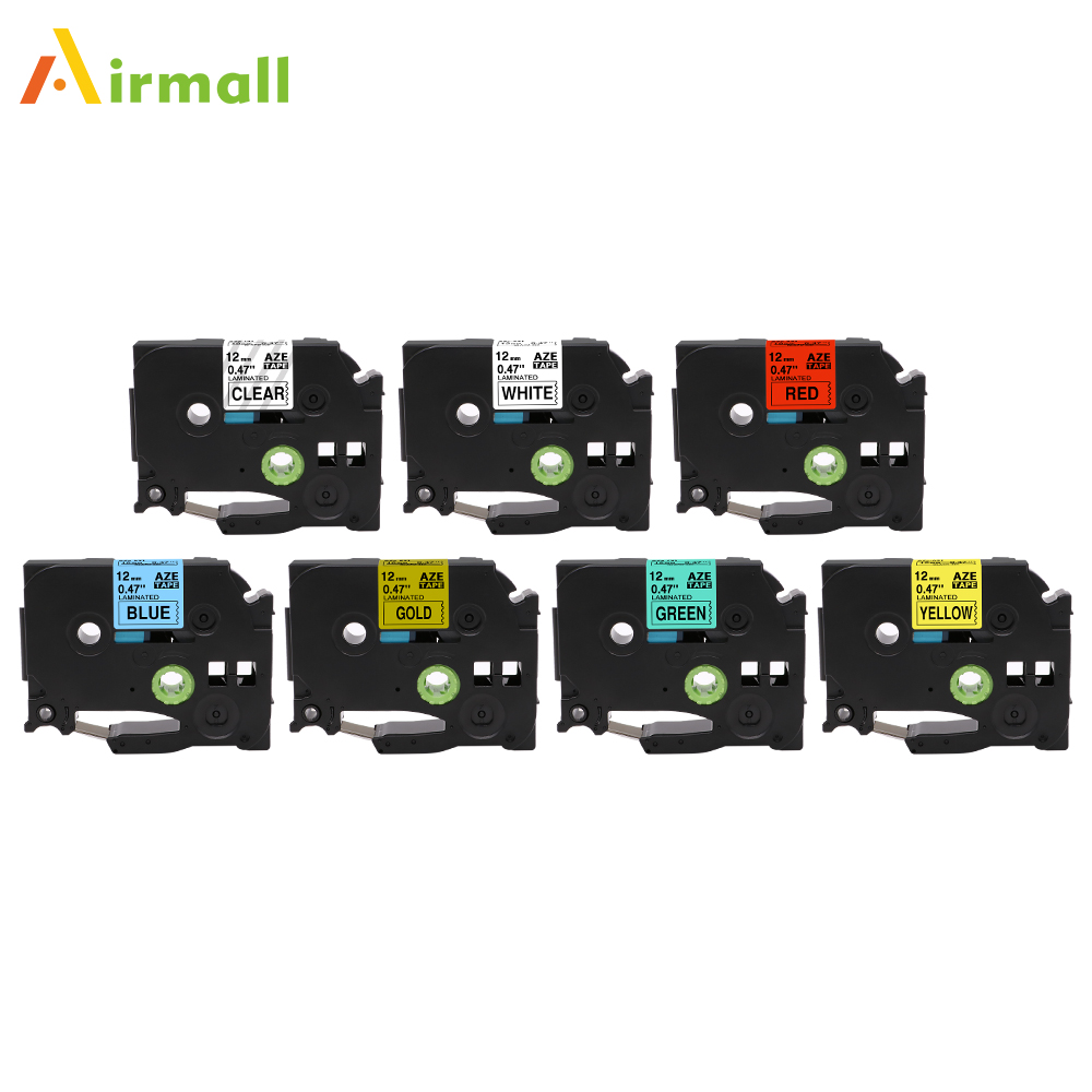 Airmall 12mm Compatible TZe231 for Brother P touch Tze Label Tapes TZe 131 tze431 Labeler Cartridges