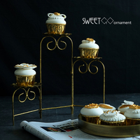 Ladder cupcake stand cookies holder fold able dessert decorating tools for wedding party sweet table supplier baker