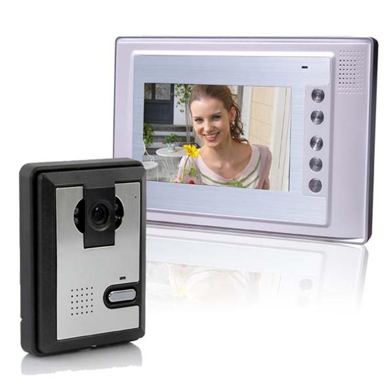 7 Inch Video Deurtelefoon Deurbel Intercom Kit Nachtzicht