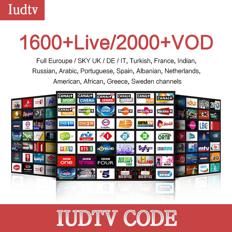 1 year Iudtv Subscription M3U APK Europe Swedish Portugal Arabic IPTV Adult Subscription OVER 2000 Channels USA Sweden French frommer s® usa 2000