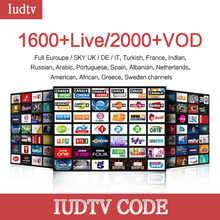 1 year Iudtv Subscription M3U APK Europe Swedish Portugal Arabic IPTV Adult Subscription OVER 2000 Channels USA Sweden French(China)
