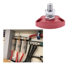 赤接続ブロック電源ポストセット絶縁端子スタッド 6 ミリメートルボートパーツ & アクセサリーエンジン après ル圏電源