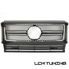 For Mercedes Benz G-class W463 G500 G63 G65 G800 1990-2018 with Emblem SL Style Front Bumper Racing Grille