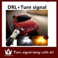 Guang Dian apto para Lancer Evolution EX DRL Luz de Circulação Diurna & Turn Signal Luz Xenon Branco + Âmbar all in one kit indicador