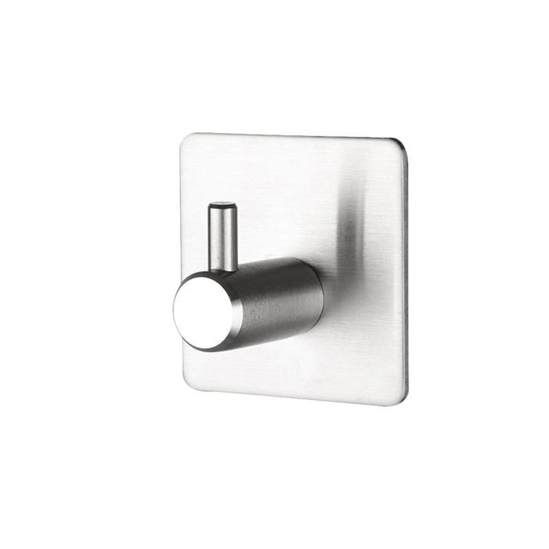 1 Stück Wand Spiegel Haken Stabile Nagel-freies Wasserdichte Traceless Klebstoff Edelstahl Wand Aufhänger Stick Haken Für Bad Küche
