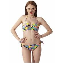 Bath Suit 2 Pieces 2019 Women Sexy Bikini Set Print Low Waist Brazilian Bathing Swimwear Swimsuit Female Beach Wear Biquini