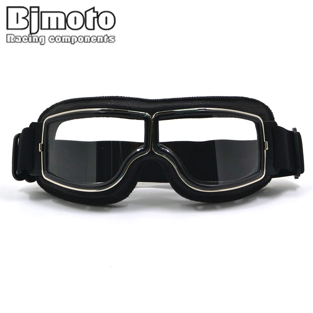 New Vintage For Harley Style Motorcycle Helmet Goggles Scooter Glasses Aviator Pilot Cruiser Steampunk with Free Bag все цены