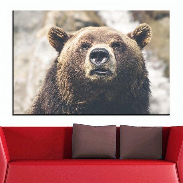 Große Größe Druck Ölgemälde Natur Tierfell Wandmalerei POP Art Wall Art  Bild Für Wohnzimmer Malerei Keine