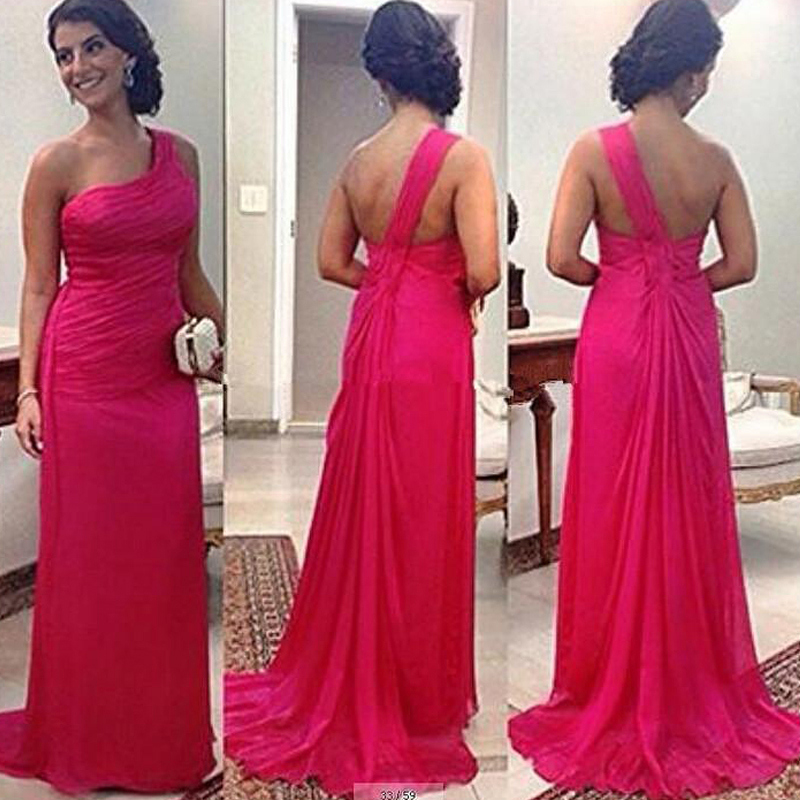 Buy 2015 fuschia bridesmaid dresses long for Long dresses for wedding party
