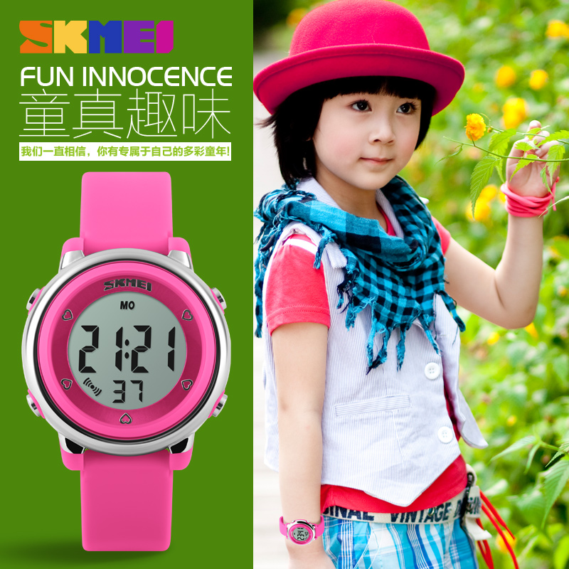 2017 SKMEI Barneklokke LED Digital Sports Relojes Mujer Boys Girls Fashion Kids Cartoon Gelé Vanntett Relogio Feminino