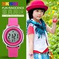 2017 SKMEI Children watch LED Digital Sports Relojes Mujer Boys girls fashion Kids Cartoon Jelly Waterproof Relogio Feminino