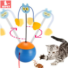 HIPET Electric Cat Toys Interactive Laser Tumbler Multifunctional Ball Food Dispenser Small Cats Kitten Leakage ball