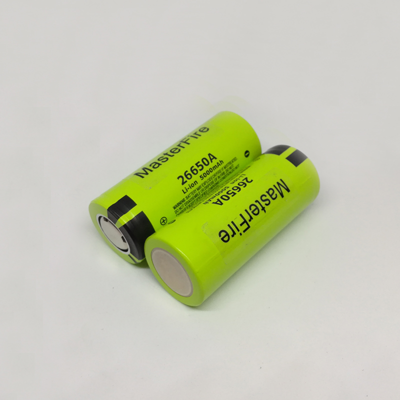 MasterFire 8PCS/LOT Original For <font><b>Panasonic</b></font> 3.7V 26650A <font><b>26650</b></font> 5000mAh Max 10A Discharge Lithium Battery Rechargeable Batteries image