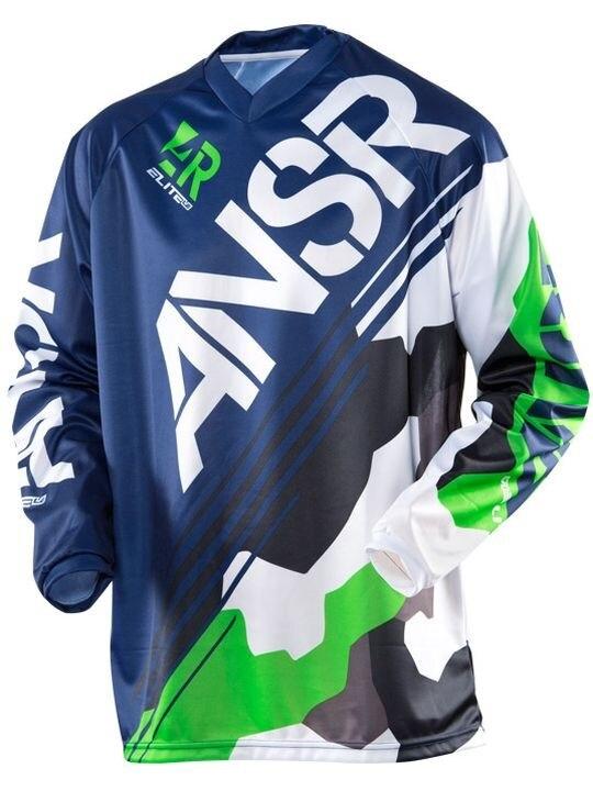 2017 Mens Long Motocross Racing Jersey Downhill Bike Bicycle Pro Moto Off Road T Shirt Clothing Top DH MX GP RBX MTB R#15