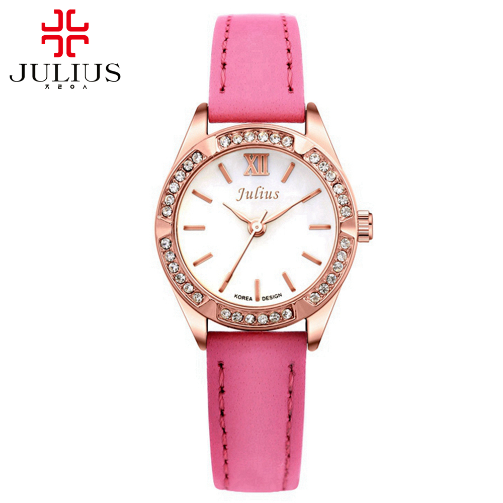 Womens hot wristwatch New women luxury dress rhinestone watches female fashion casual quartz watch Top brand Julius 730 clock hot women s steel ceramic wristwatch women dress rhinestone watches fashion casual quartz watch luxury brand melissa 8009 clock
