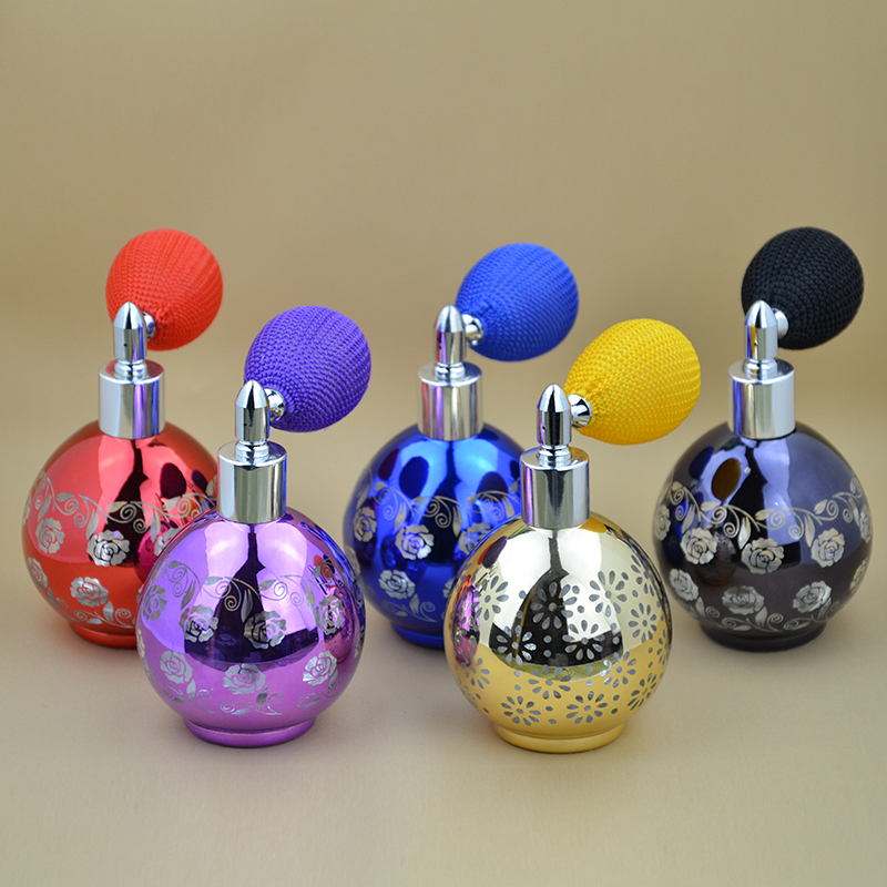Hight Quality 50ML 1 Pieces Colorfull Glass Cylinder Balloon Spray Perfume Bottle Atomizer Cosmetic Refillable Bottles Air Bag 2 bottles x 90 pieces bottle black maca powder extracts 100