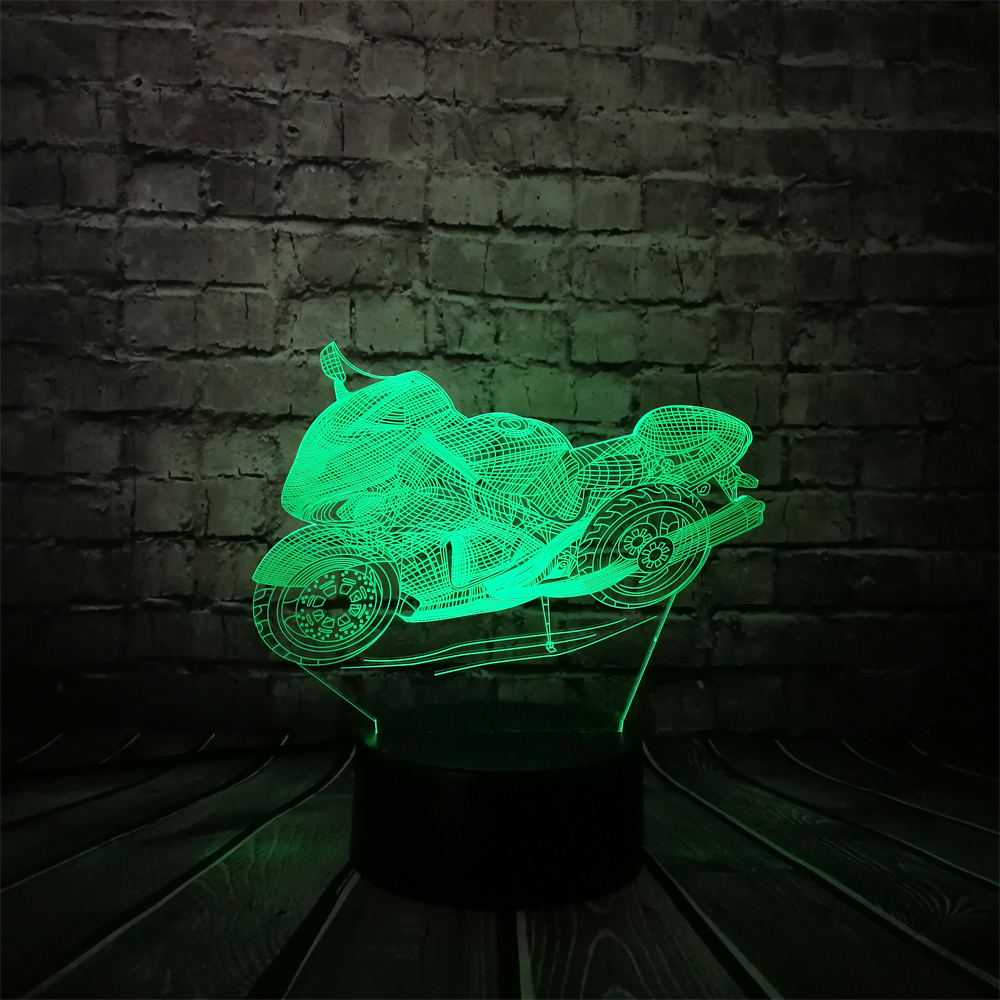 2019 Cool Fsat Haulage Motorcycle 3D LED USB Lamp Car-styling Man - Night Lights - Photo 3