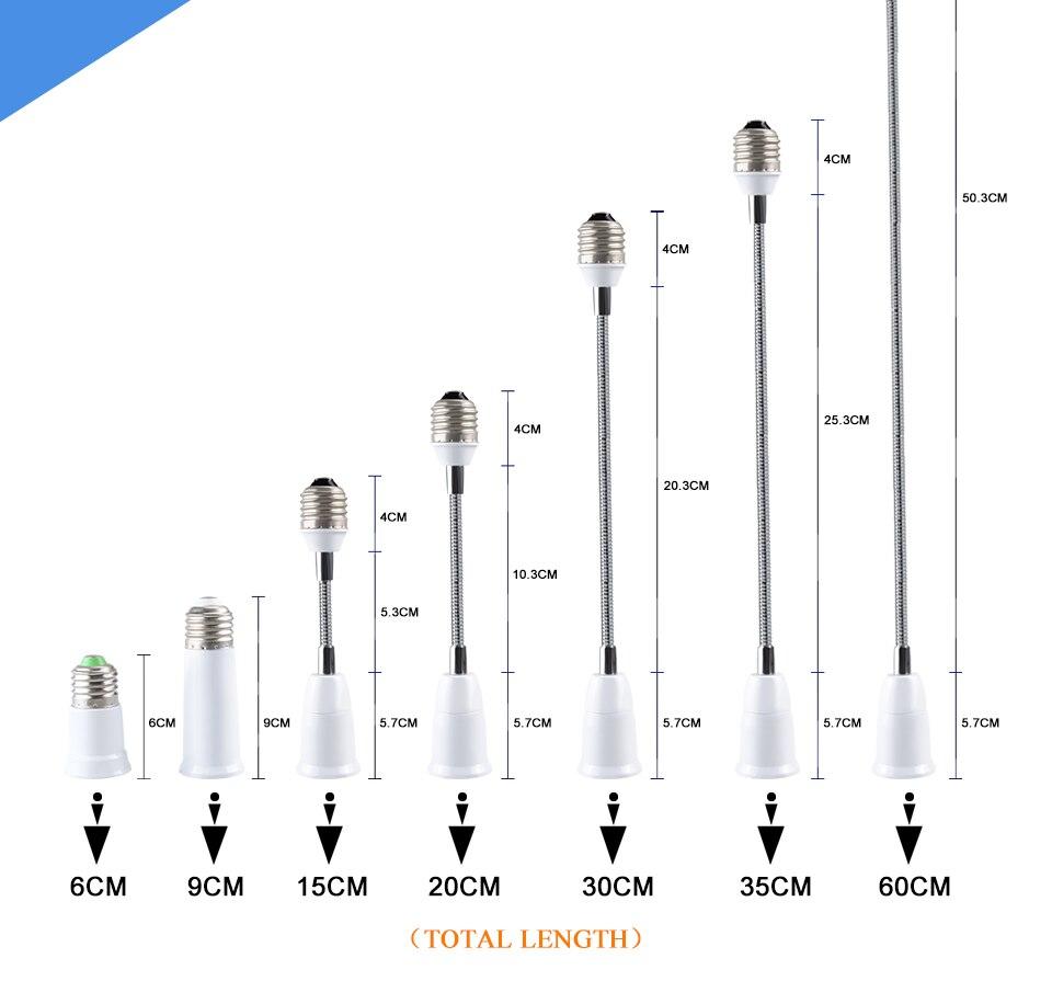 Extend Base LED Light Lamp Adapter Converter Socket  (3)