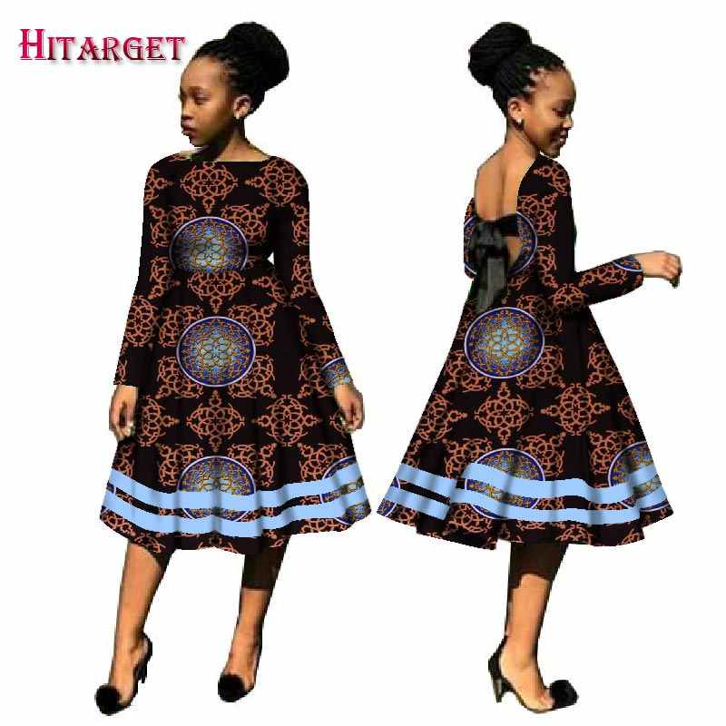 ... Autumn Bazin African Dresses for Women Kanga Clothing Dashiki African  Wax Print Long Sleeve Dresses Traditional ... 602252ff9ae3