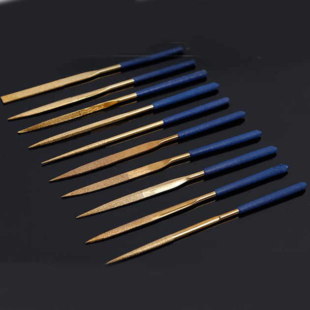 Hot Sale 10Pcs/set Diamond Coated Needle File Set Stone Jewelry Wood Carving DIY Craft Tools for Woodworking Top Quality