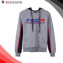 KODASKIN Men Cotton Round Neck Casual Printing Sweater Sweatershirt Hoodies for F800R f800r