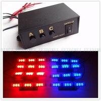 03015 8x9led 72LED Car LED Flash Light/Strobe Warning Light/Amber Lightbar/Car LED Dash Light Warning Emergency Lightbar With